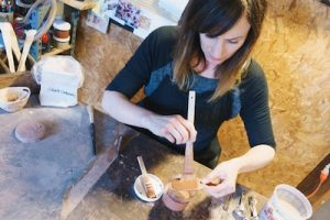 Ceramic and diverse material art made by Rhonda Willers.