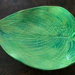 Green hosta dish, food safe.