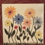 flower painted tile