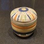 lines and dot underglazed jar